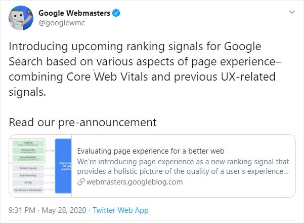 Google's User Experience Update